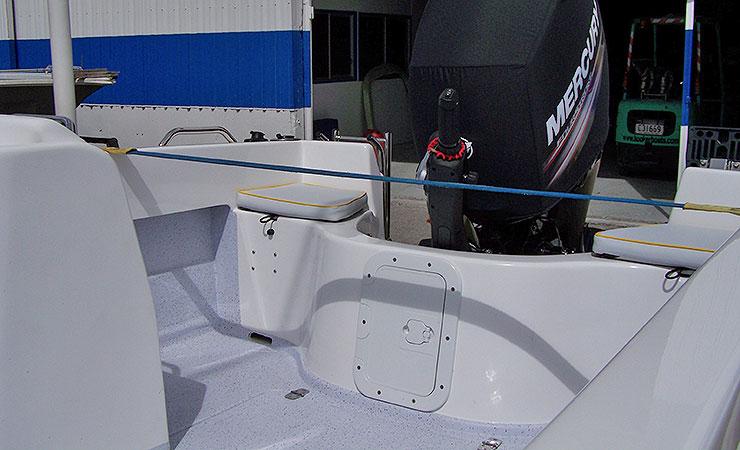 6mtr Tiller SII rear deck