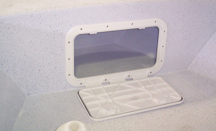 Series I forward storage compartment